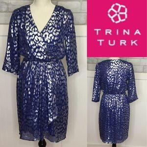 Trina Turk metallic party Dress